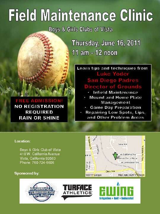 Free Field Maintenance Clinic - June 16th